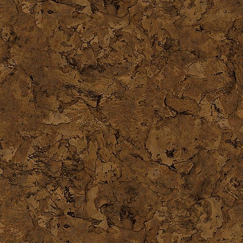 Sample - Lisbon Cork Dark Luxury Vinyl Flooring, 4-inch x 4-inch