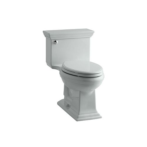 KOHLER Memoirs Stately 1-Piece 4.8 LPF Single Flush Elongated Toilet with AquaPiston Flush in Ice Grey