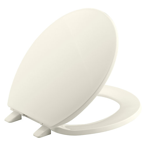Brevia Round Closed Toilet Front Toilet Seat with Q2 Advantage in Biscuit