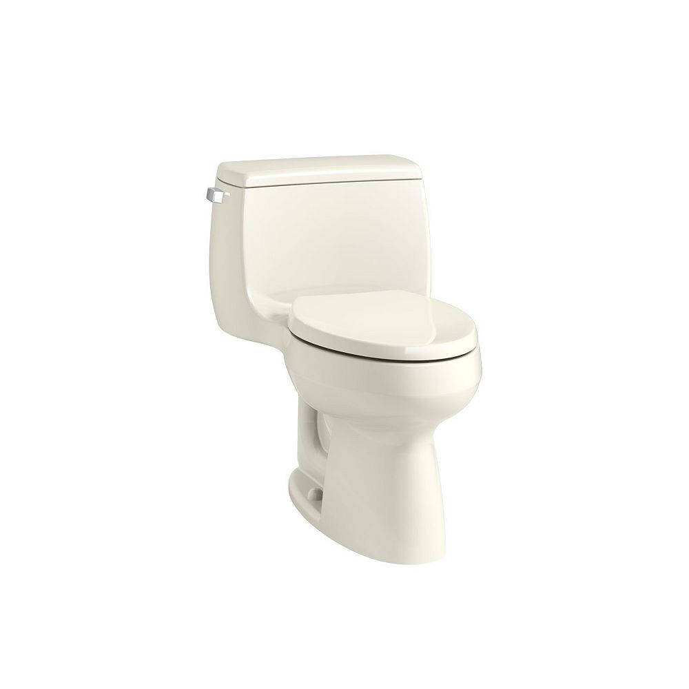 KOHLER Gabrielle Comfort Height 1-Piece 1.28 GPF Single Flush Elongated Toilet in Biscuit