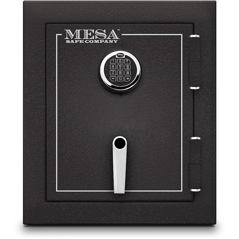 Mesa Safe Company Coffre-fort anti-cambriolage et anti-incendie Mesa MBF1512E tout acier. Capacité 22,6 l (1,7 pi3)