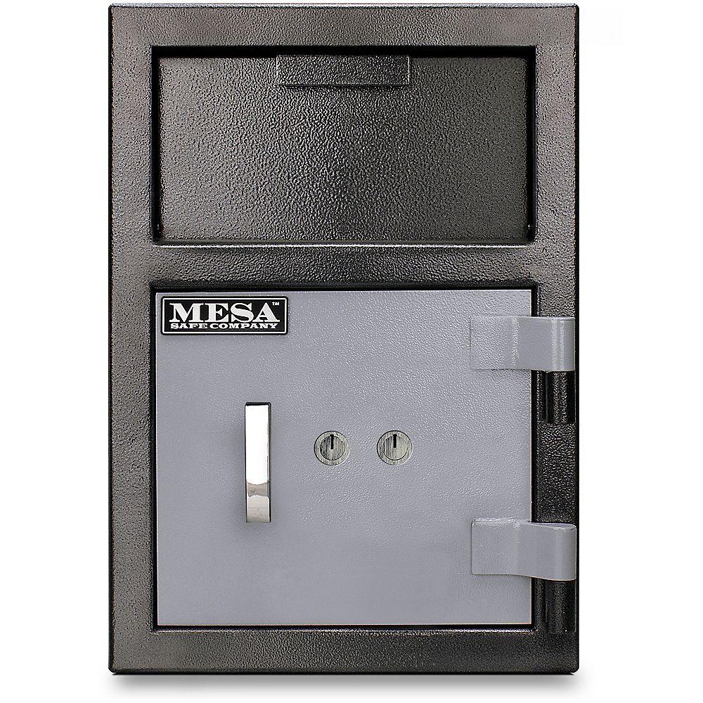 Mesa Safe Company Coffre-fort dépôt Mesa MFL2014K tout acier. Capacité 22,6 l (0,8 pi3)