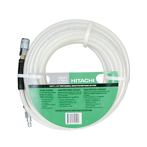 1/4 Inchx100 Feet Poly Hose w Coupler/Plug