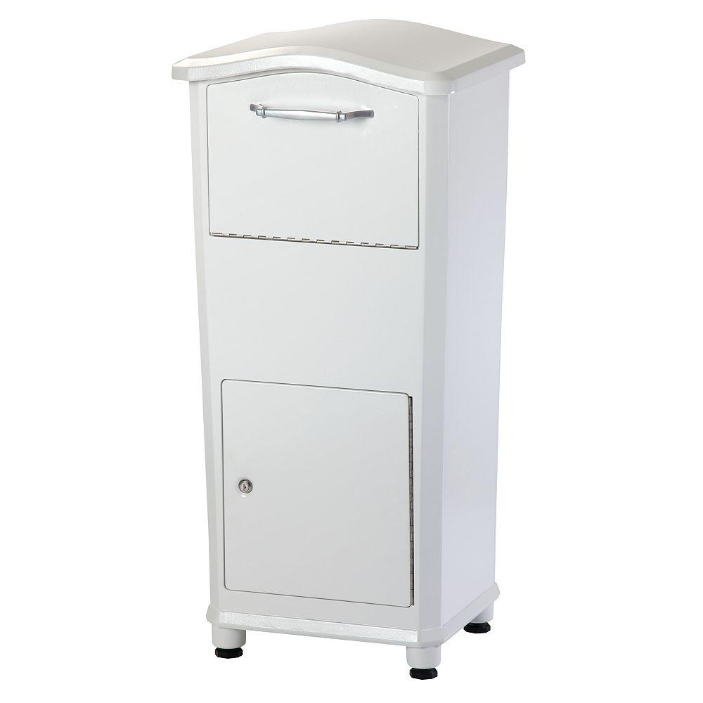 Architectural Mailboxes Elephantrunk Parcel Drop Box White