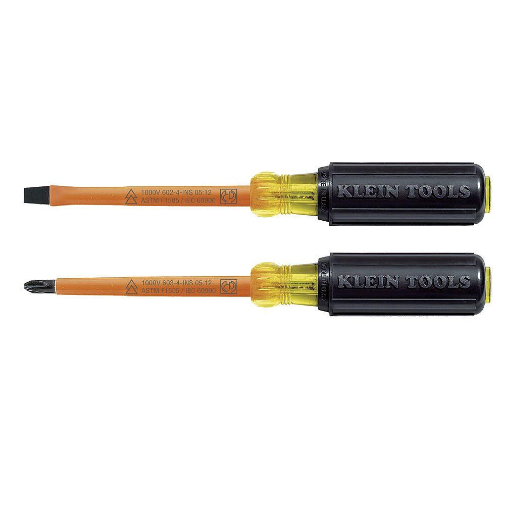 Klein Tools Jeu de 2 tournevis isolés