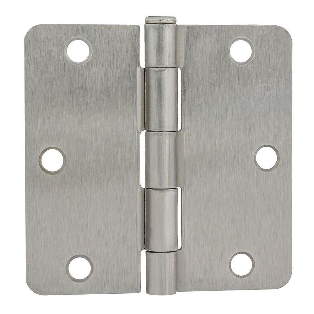 Everbilt 3 1/2-inch Satin Nickel Door Hinge for 1 3/4-inch Thick Door