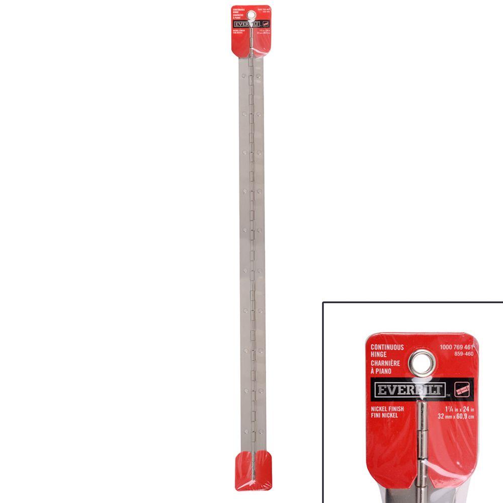 Everbilt 24-inch X1-1/4-inch Nickel Continuous Hinge