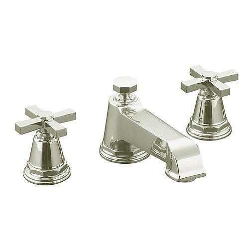 Pinstripe(R) Pure deck-mount bath faucet trim for high-flow valve with cross handles