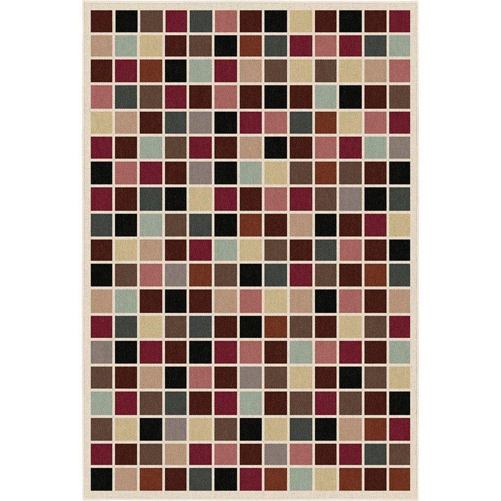 Korhani Home Filipa Multi-Colour 6 ft. 7-inch x 9 ft. 1-inch Rectangular Area Rug