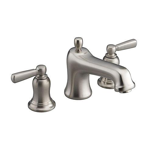 Bancroft(R) bath faucet trim for deck-mount valve with diverter spout and metal lever handles