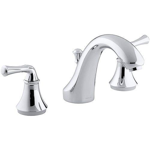 Forté(R) traditional deck-mount bath faucet trim for high-flow valve with diverter spout