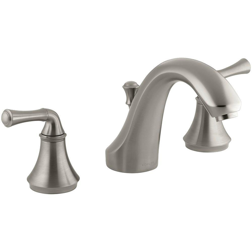 KOHLER Forté(R) traditional deck-mount bath faucet trim for high-flow valve with diverter spout