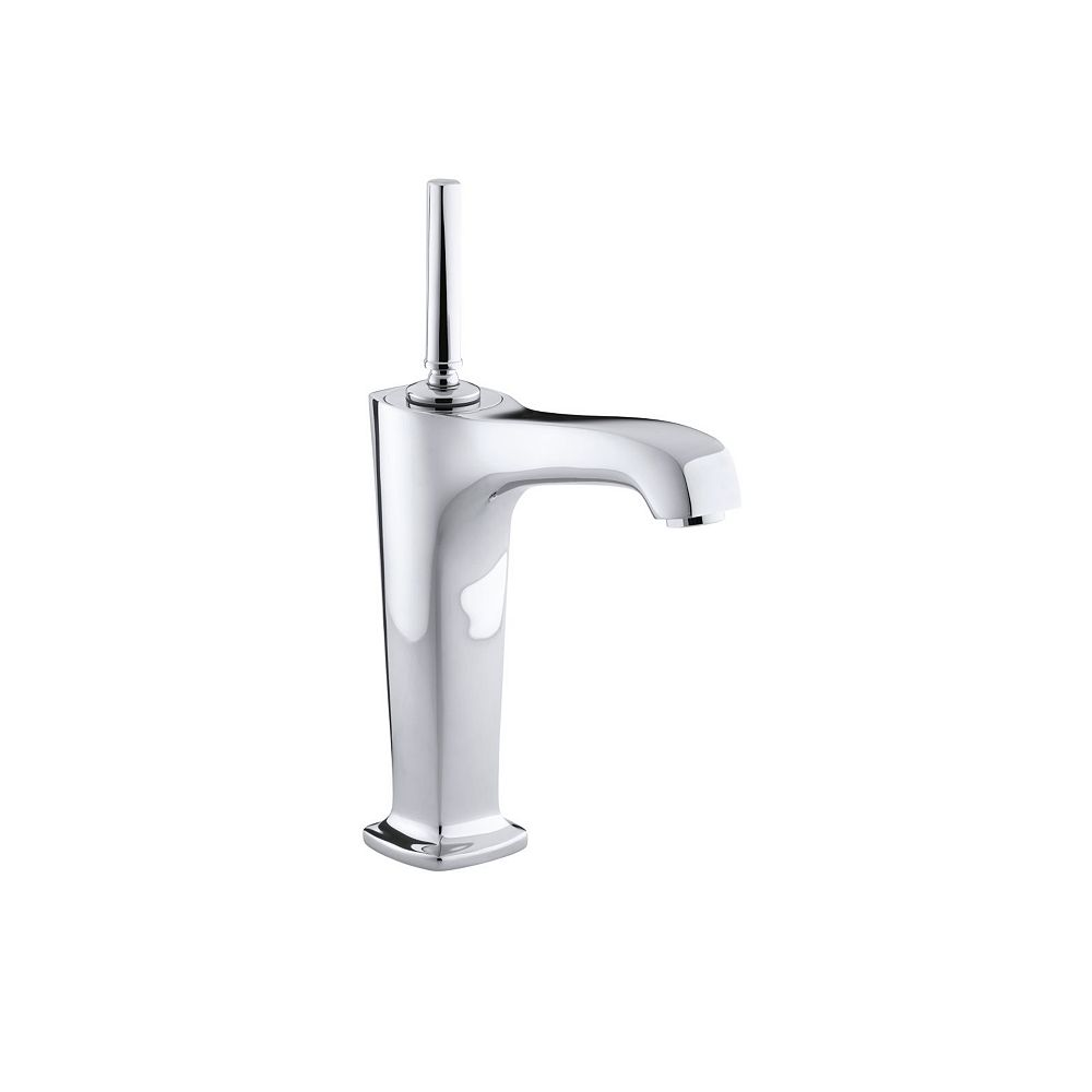 KOHLER Margaux(R) Tall single-hole bathroom sink faucet with lever handles and  6-3/8 inch spout