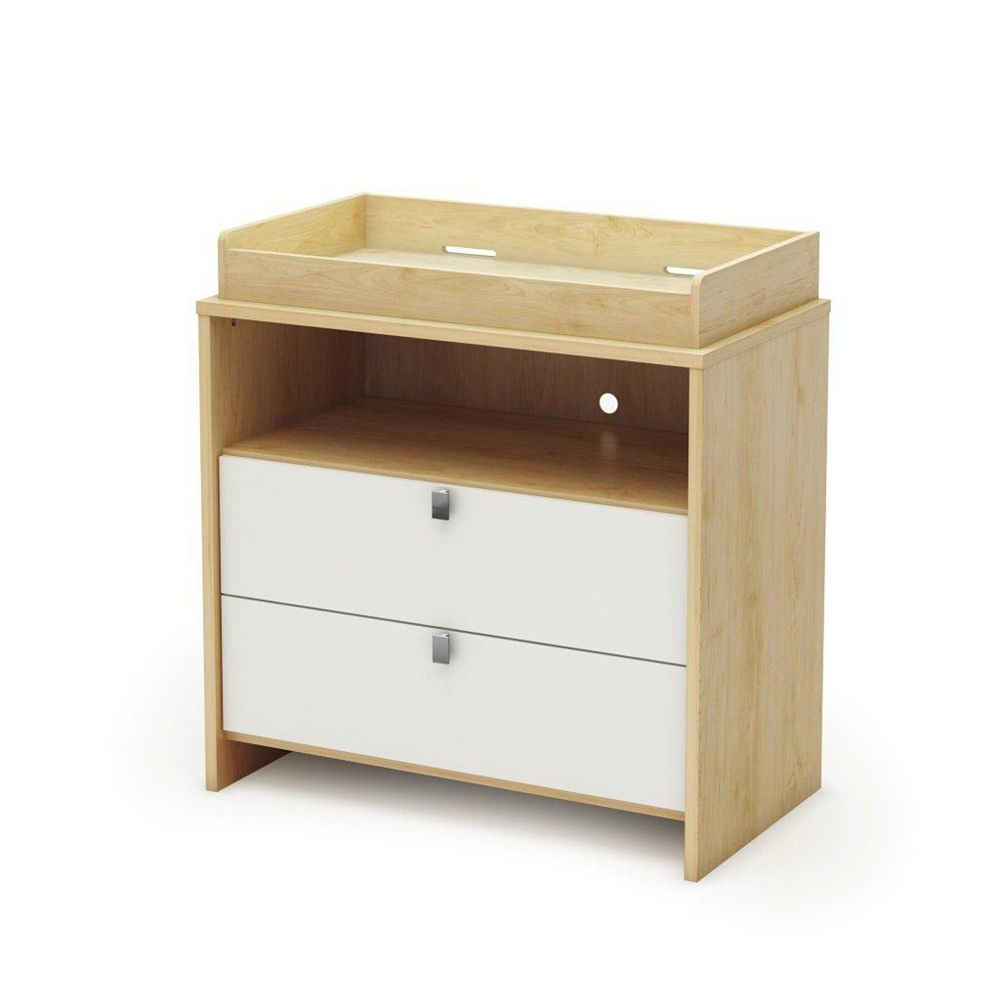 South Shore Cookie Changing Table Champagne & White