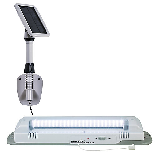 III Luminaire LED blanc pour remise à énergie solaire avec 48 LED