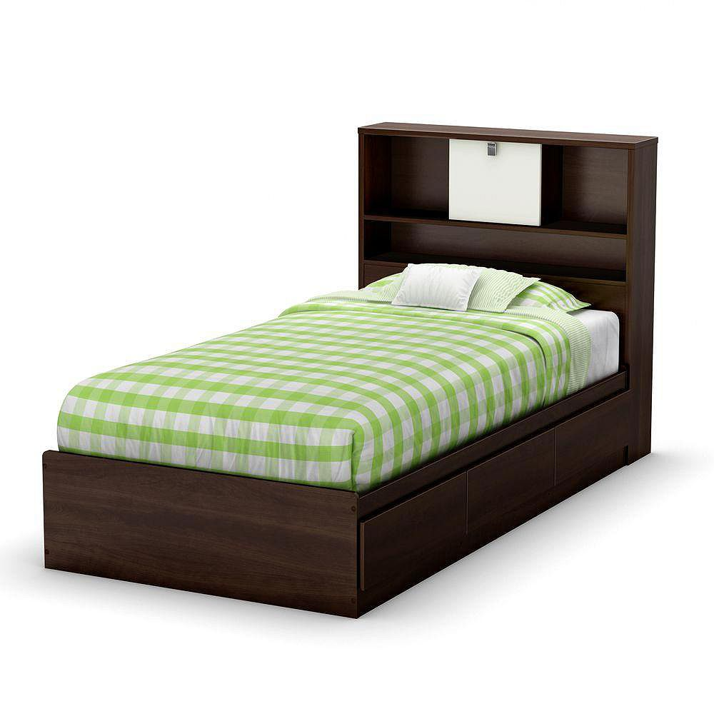 South Shore Cookie Twin Mates Bed Mocha