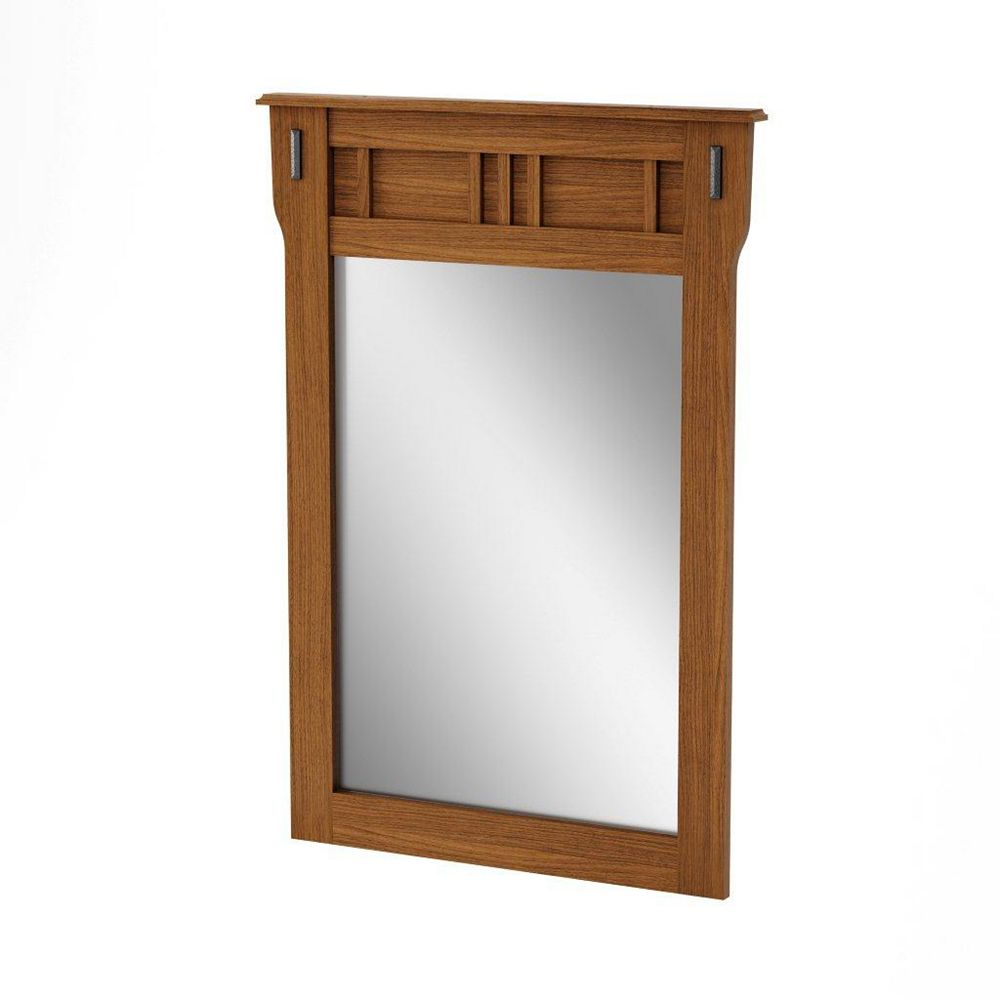 South Shore Tryon Mirror Roasted Oak