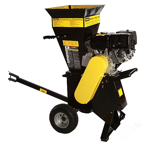 15-HP 420cc Commercial Duty Electric Start Chipper Shredder
