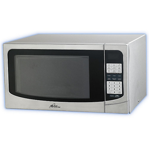 1.34 cu. ft. Countertop Microwave in Silver with Stainless Steel Door