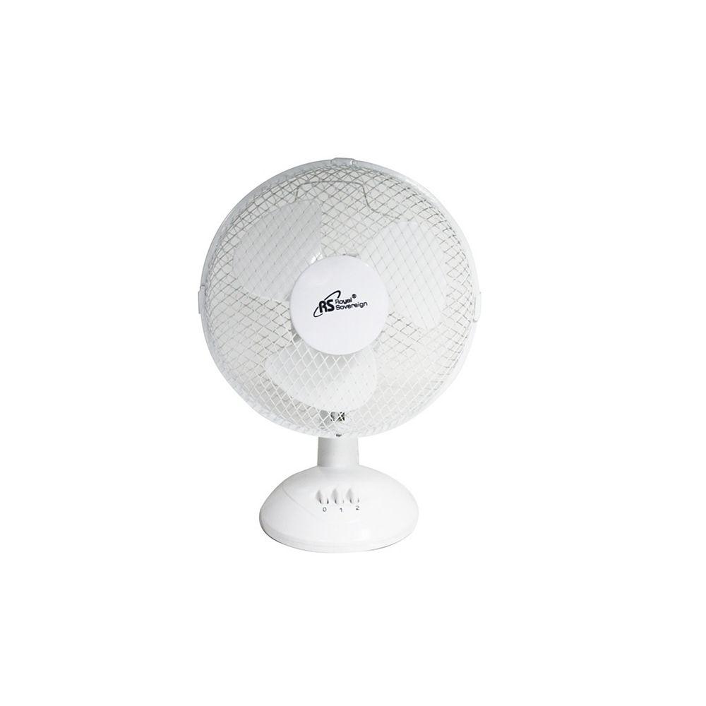 Royal Sovereign 9 Inch Desk Fan - White