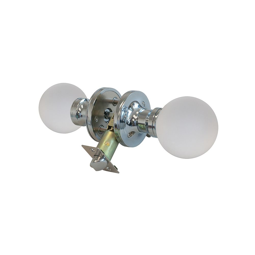 Krystal Touch Moon Chrome Privacy LED Door Knob