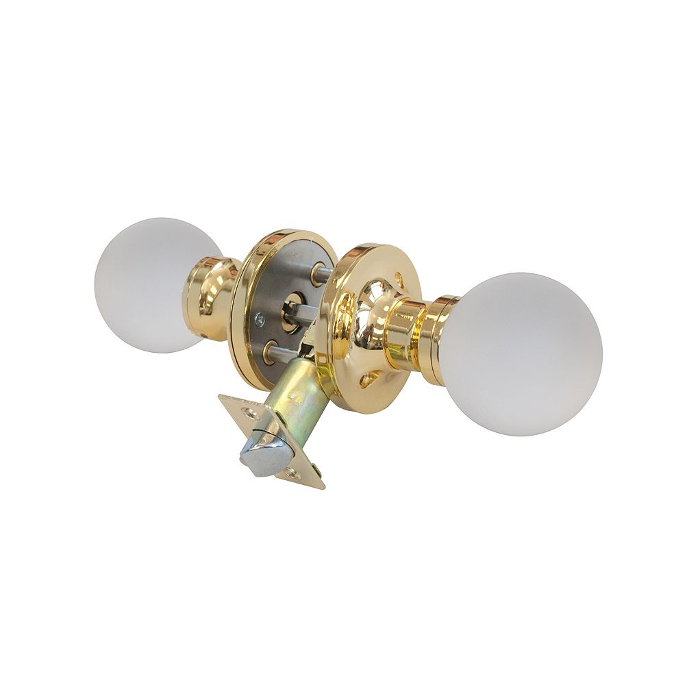 Krystal Touch Moon Brass Privacy LED Door Knob