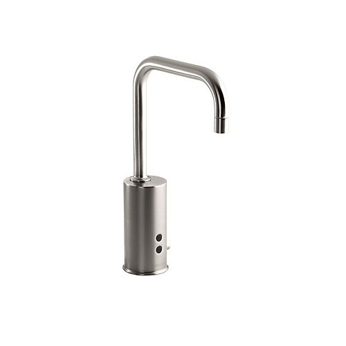 Gooseneck single-hole Touchless(TM) DC-powered commercial faucet with Insight(TM) technology and temperature mixer
