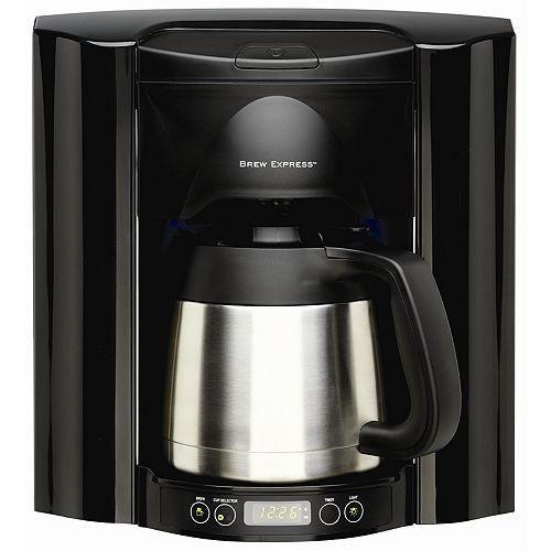 Cafetière programmable encastrée en noire,  à 10 tasses