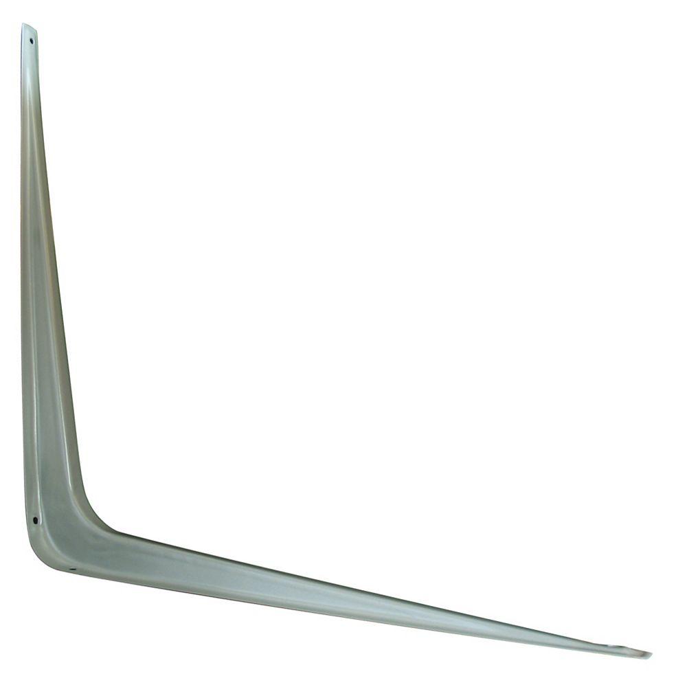 Everbilt 12 Inch X14 Inch  Grey Shelf Bracket