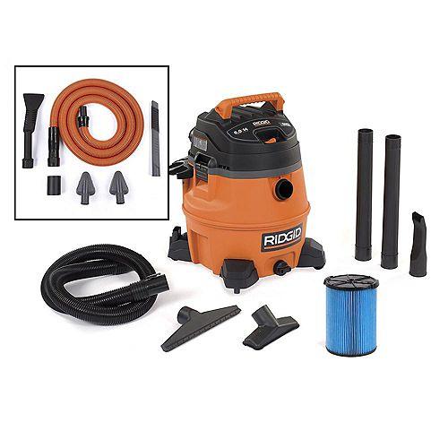 53 L (14 Gal.) 6 Peak HP Wet/Dry Vacuum with Auto Detailing Kit