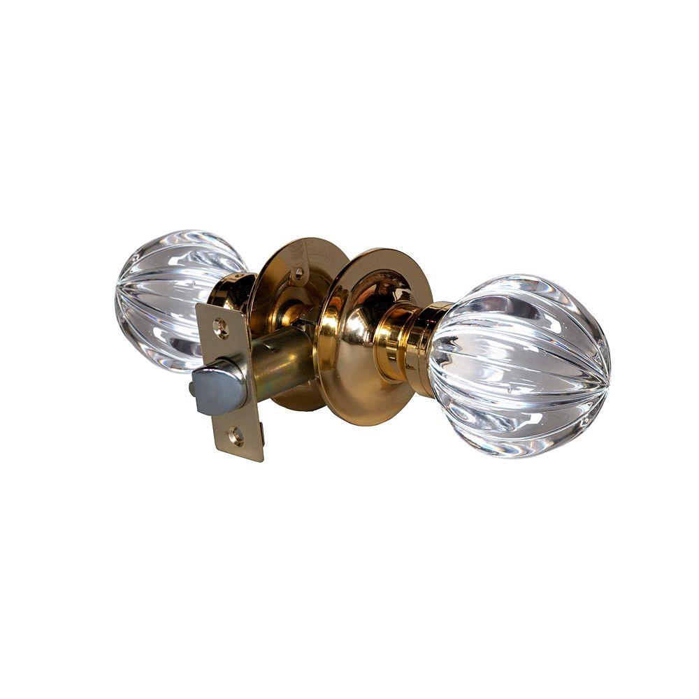 Krystal Touch Wave Brass Passive LED Door Knob