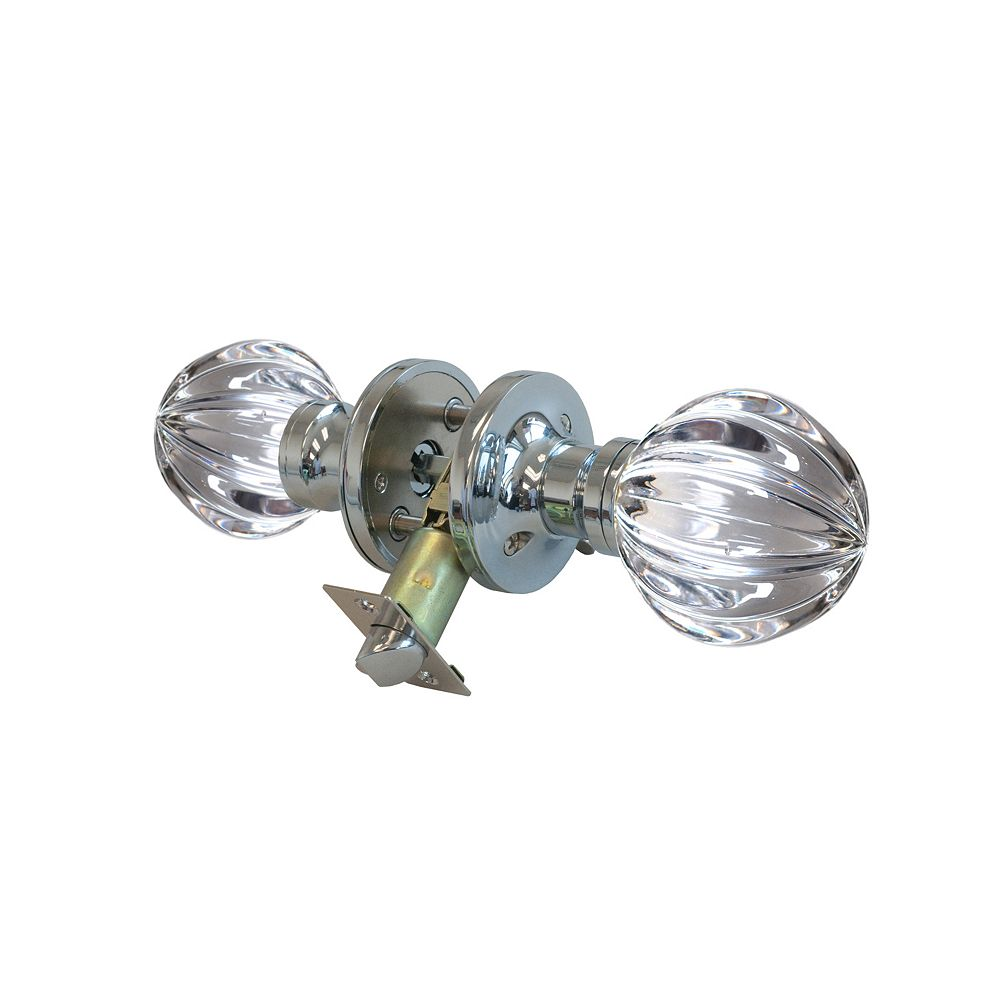 Krystal Touch Wave Chrome Privacy LED Door Knob