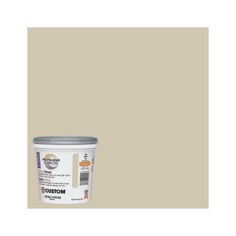Custom Building Products #382 Bone Sanded Grout 1 Lb.