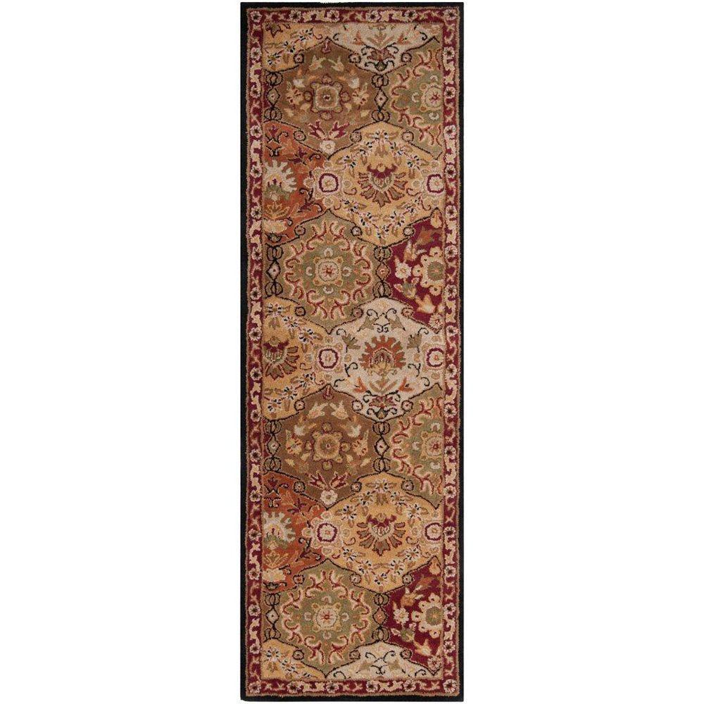 Artistic Weavers Abbaretz Red 2 ft. 6-inch x 8 ft. Indoor Traditional Runner