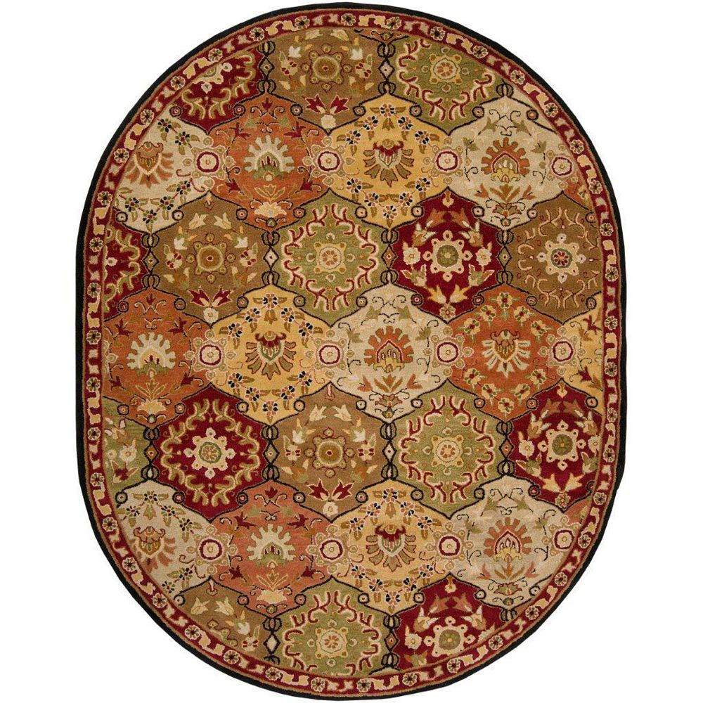 Artistic Weavers Abbaretz Red 6 ft. x 9 ft. Indoor Transitional Oval Area Rug