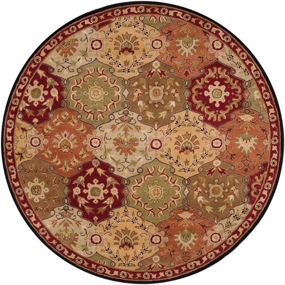Artistic Weavers Abbaretz Red 6 ft. x 6 ft. Indoor Transitional Round Area Rug