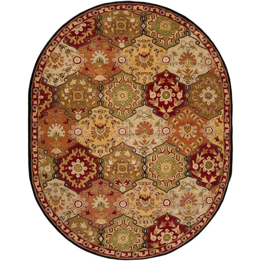 Artistic Weavers Abbaretz Red 8 ft. x 10 ft. Indoor Traditional Oval Area Rug