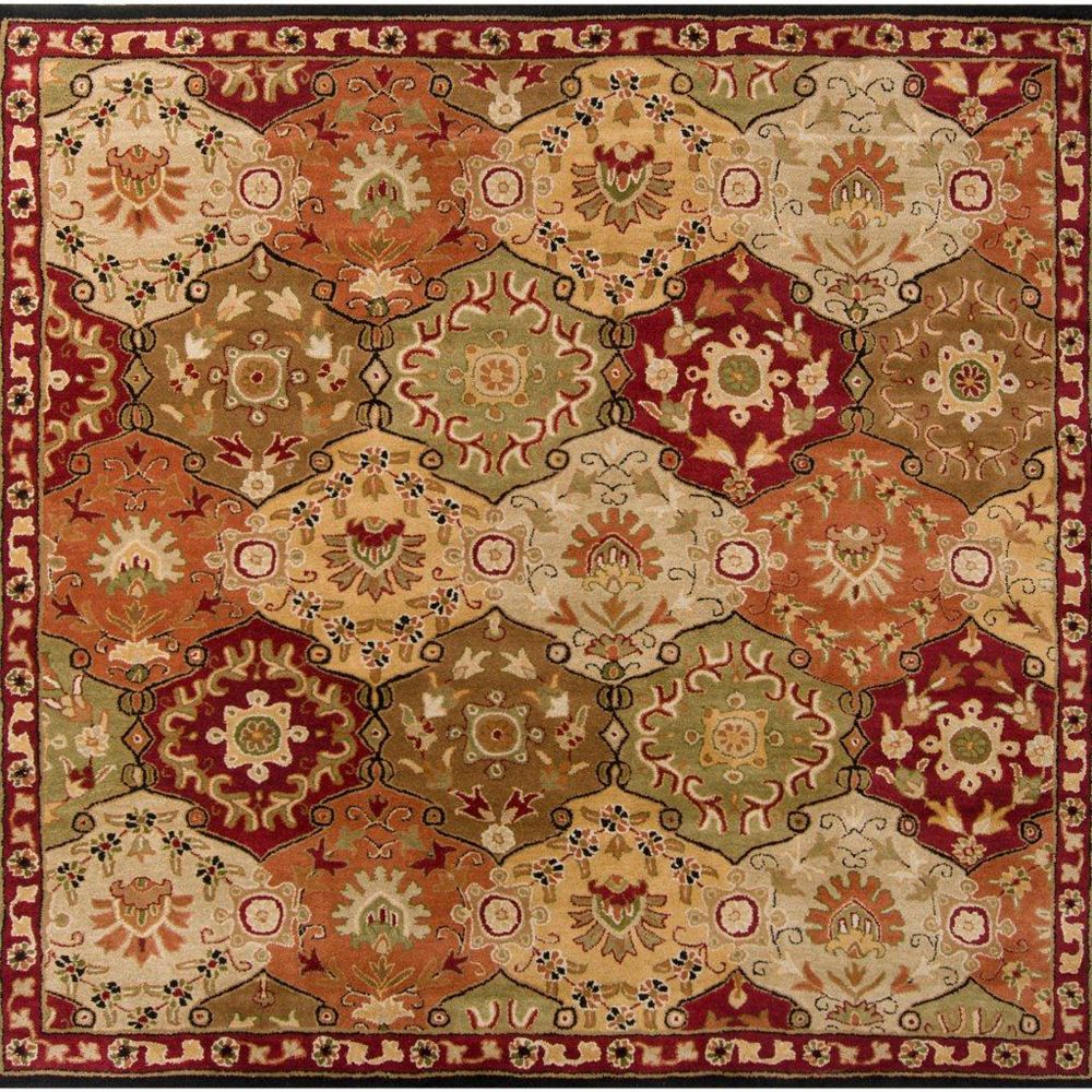 Artistic Weavers Abbaretz Red 9 ft. 9-inch x 9 ft. 9-inch Indoor Traditional Square Area Rug