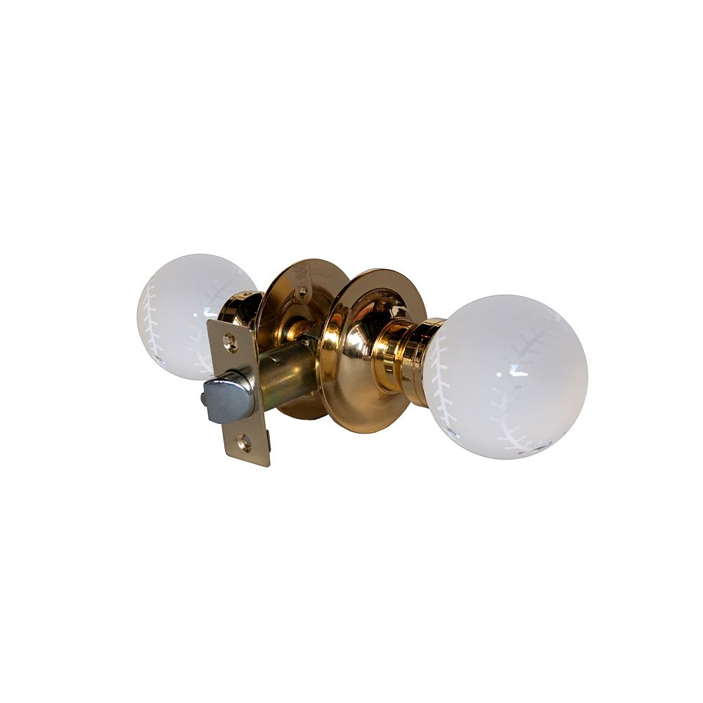 Krystal Touch Baseball Brass Passive LED Door Knob