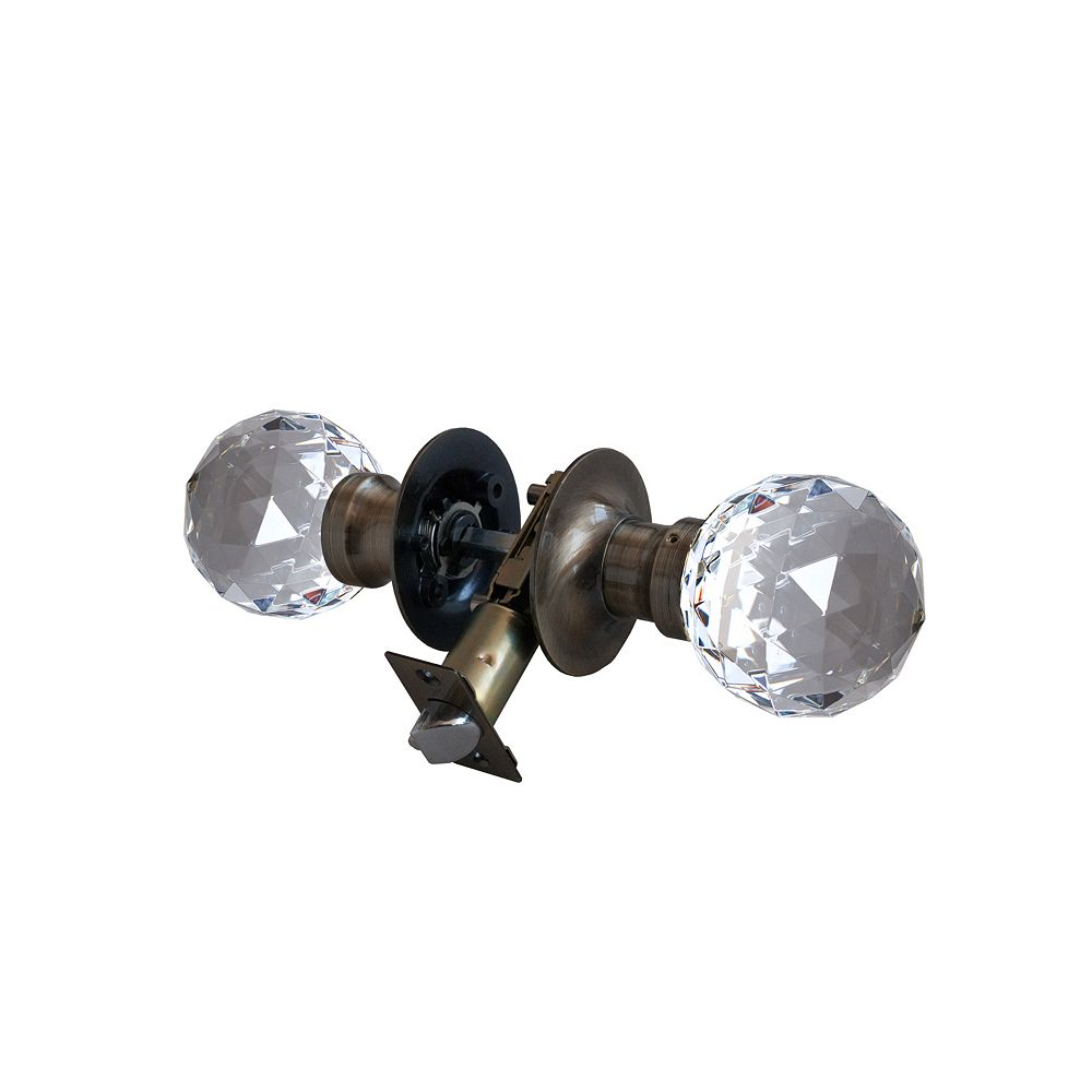 Krystal Touch Epoch Antique Brass Passive LED Door Knob