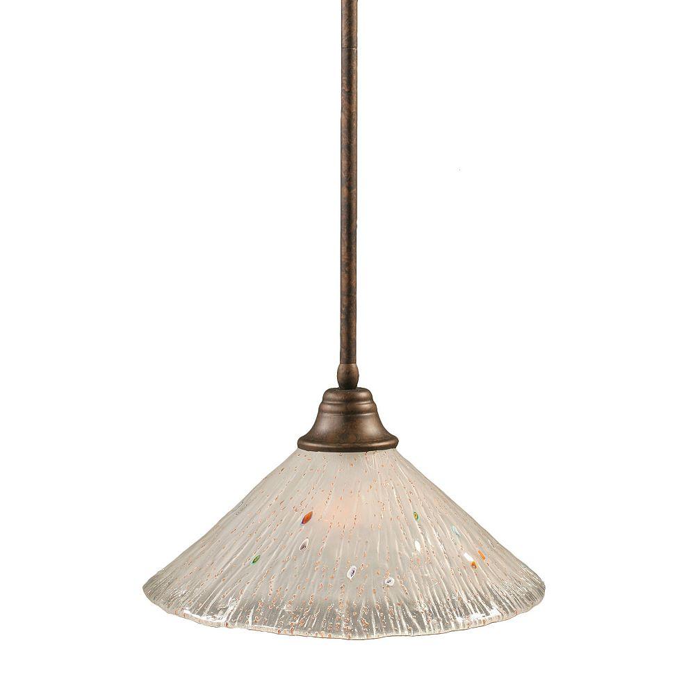 Filament Design Concord 1 lumière au plafond Bronze Pendeloque incandescence par une Frosted Crystal