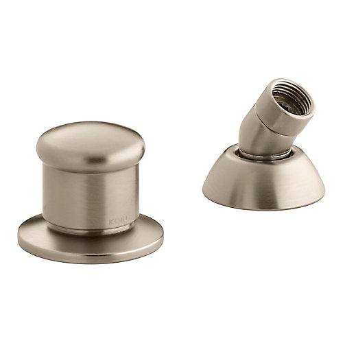 Inverseur a deux voies et guide de tuyau de douchette