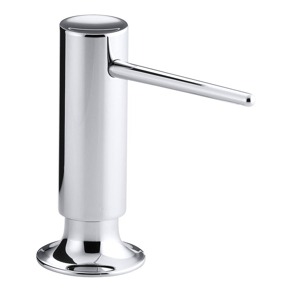 KOHLER Contemporary Design Soap/Lotion Dispenser in Polished Chrome