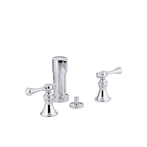 Revival Bidet Faucet with Vertical Spray and Traditional Lever Handles