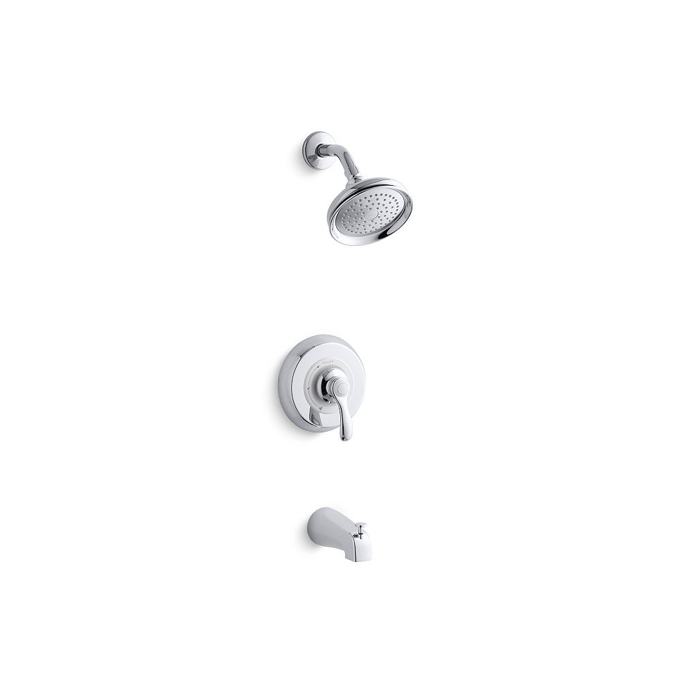 KOHLER Fairfax Rite-Temp Pressure-Balancing Bath/Shower Faucet with Lever Handle and Diverter Spout