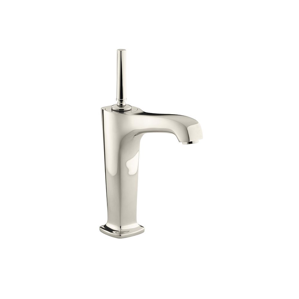 margaux r tall single hole bathroom sink faucet with lever handles and 6 3 8 inch spout