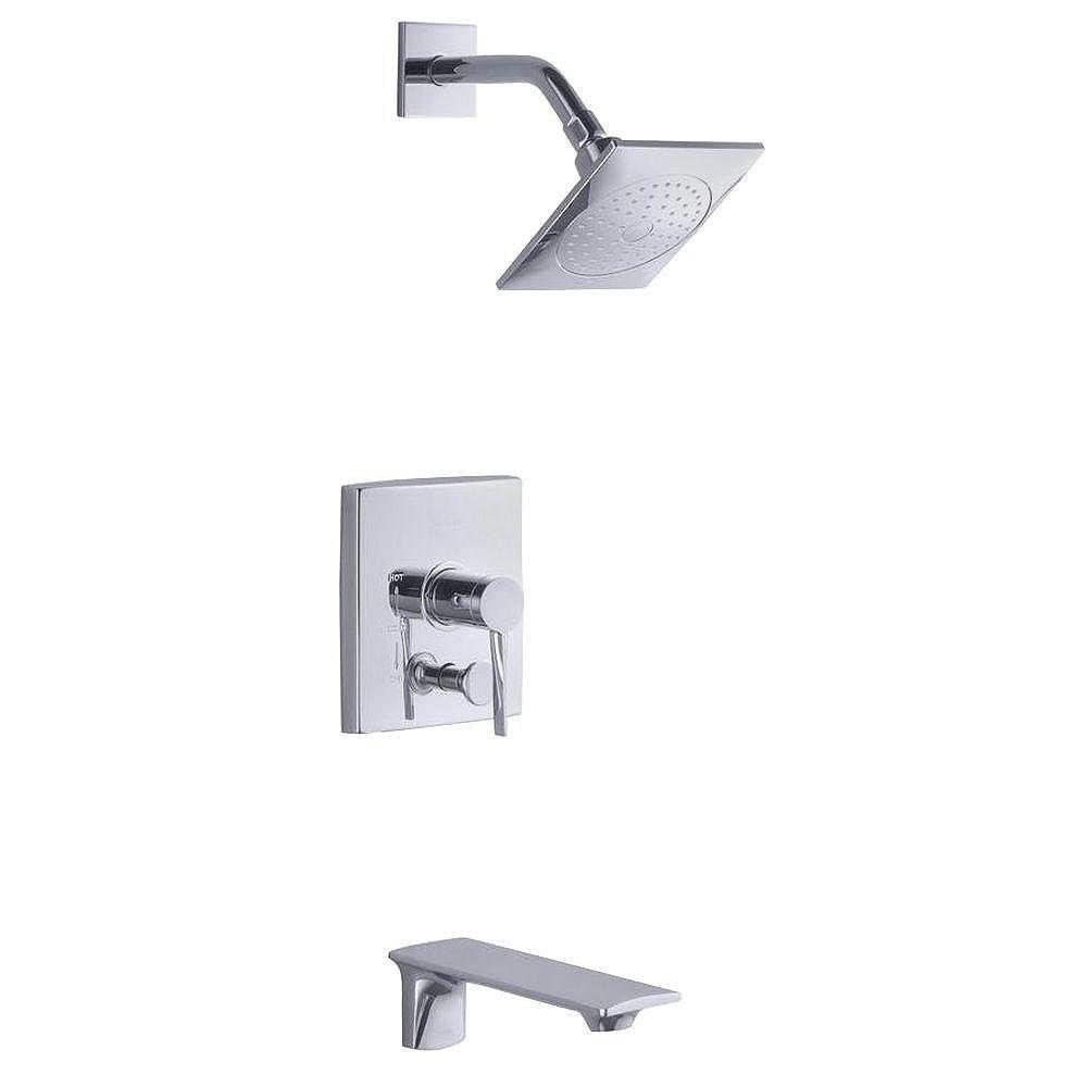 KOHLER Stance(r) Rite-Temp(r) bath and shower trim set with push-button diverter