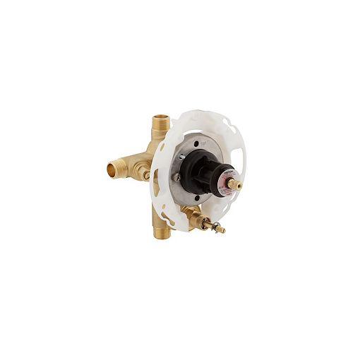 Robinetterie pour robinet a pression autoregularisee Rite-Temp 1/2 po avec inverseur a bouton-poussoir et robinets d'arret a tournevis