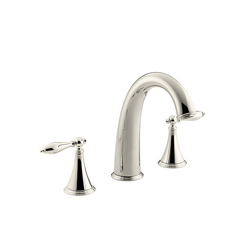 Finial(R) deck-mount bath faucet trim for high-flow valve with lever handles, valve not included