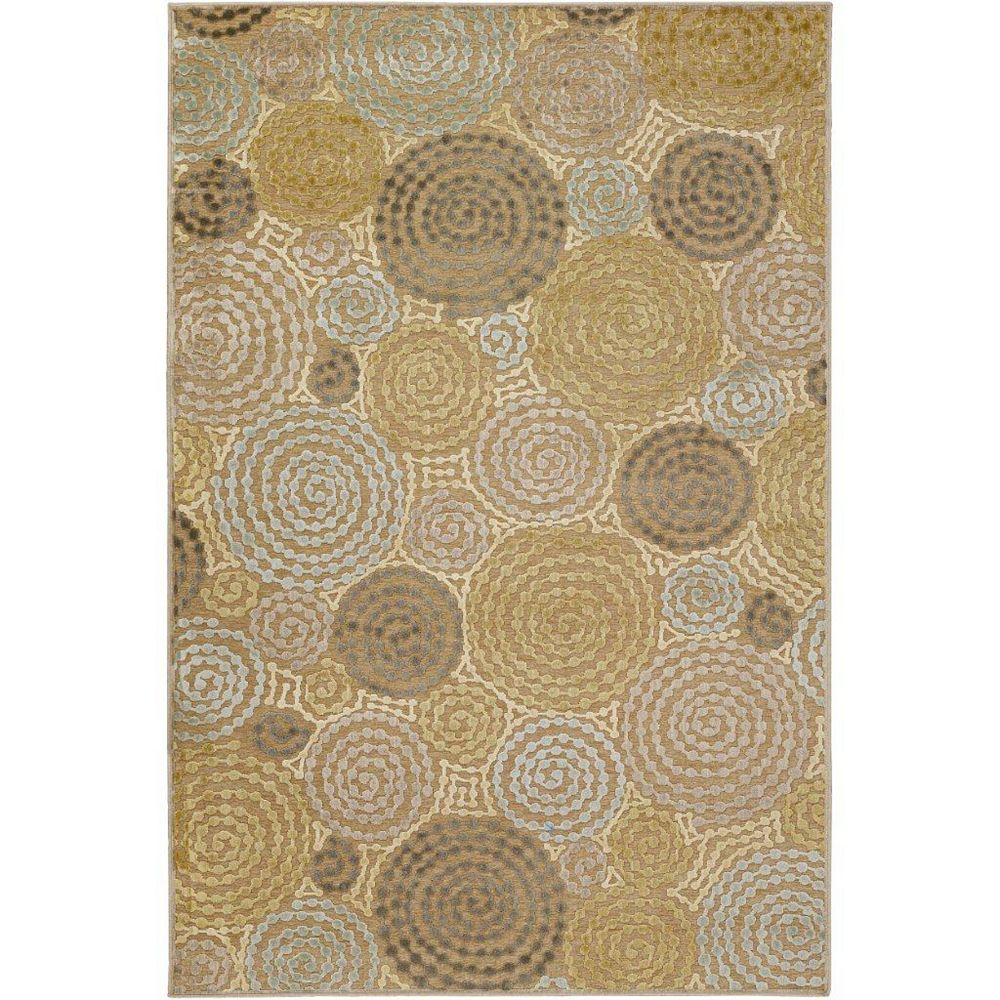 Artistic Weavers Carpette d'intérieur, 5 pi 2 po x 7 pi 6 po, style transitionnel, rectangulaire, vert Atherton